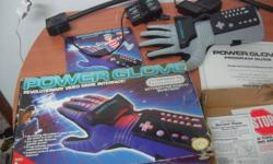 Selling a rare Nintendo Powerglove with box and all the manuals and sensors. size Large  $50