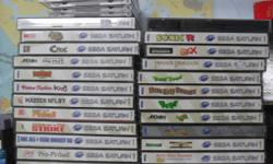 Selling a vintage Sega Saturn with all the hook-ups and 2 controllers and a pile of games, $100 firm
