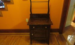 """A beautiful wash stand with towel bar. 26"""" At the top, 4' at the drying bar."""