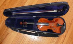Purchased new with case and bow. (Full size violin) Selling for less than half of purchase price.  Violin was well looked after and is still in new condition.