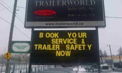 Trailerworld is your full service trailer dealership  We are licenced to safety your trailer   We Service and Sell a Great Variety of Parts and Accessories Including: ·         Electric and Hydraulic Brakes ·         Wheel Bearings and Hubs ·