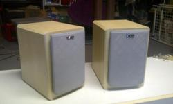 Vivid 2-way Speakers Perfect condition 5 1/2 inches wide x 8 inches deep x 8 inches high Attractive as a furniture piece $30 for the pair