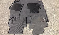 heavy duty floor mats and trunk liner... like new paid $300