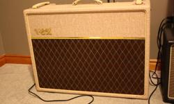 """2010 Vox AC30HW2 Handwired, 2X12"""" with Celestion Greenback speakers, mint condition, sounds amazing. Includes Vox amp cover, and hot mode footswitch. $1350 2008 Fender American Standard Telecaster, 2 tone sunburst ash body and maple neck. Excellent"""