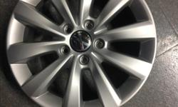 "Made by Borbet, sold by Myers VW, 16"" 5 X 112 bolt pattern, fits late model VW Golf, Jetta, Passat, Beetle, etc. Two in near perfect condition, one with mild curb rash, one with more rash but does not impact wheel performance and can always be"