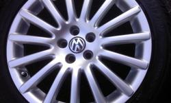 Genuine Volkswagen Arietta Rims In Great condition with few minor scratches that are barely visible Specs: 5 x 100 bolt pattern 17 x 7.5 38mm  offset 25lb each Tires: Fuzion HRI 225/45/R17 Tires have lots of tread as you can see in the picture Thanks