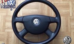 This posting is for steering wheel and airbag that i've purchase to upgrade my Passat and i just fund out that's not Plug And Play ..Now i have to sell it to recoup some $$ back. DESCRIPTION OF THE PART: 4 spoke rubber steering wheel VW PASSAT 2007