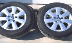 I have four Nokian Hakapeliitta snow tires on 15 inch Volkswagen seven spoke aluminum rims. P195/65R15 91Q The bolt pattern for the rims is 5 lug 4.41 inch or 112mm High Positive Offset 50mm. They will fit a 2007 or newer Golf or Jetta. I also have a set