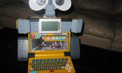 Really cute WALL-E V-Tech Learning Laptop Learn while you have fun GAMES LOGIC NUMBERS WORDS LETTERS Takes 3 AA batteries (included) Great gift idea Can meet in west end of Ottawa (Kanata) or pickup in Constance Bay