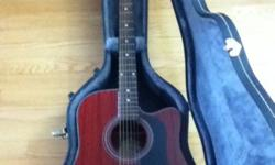 Rock bottom price for this acoustic electric. Model d10cemtwr. Comes with a hard shell case.