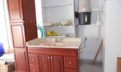 """Just purchased home and I'm renovating.....I have an INGLIS washer/dryer, clean, great working order,asking $350. year unknown but not more than 3-5 yrs.   Also cherry vanity 48"""" with marble top and  18""""tower asking $350. obo.   Freezer chest 12cu ft."""
