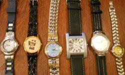 I am offering a number of watches for sale, $10 each to downsize a few.  I will also sell the entire lot of 19 for $100 so half price if you buy them all.   I have added a number of pictures, I am also selling a seperate lot of watches last 2 pictures for