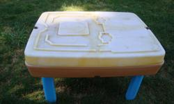 water table with lid, used well