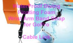 Waterproof Diving Floating Foam Wrist Armband Strap for Camera Gopro Hero -The Floating Foam Strap is made to keep waterproof digital cameras afloat and easy to find in the water -The bright colored strap is easy to see in pools, lakes or oceans -It