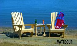 We build Quality Cedar Adirondack chairs and are giving two brand new chairs away in a draw. Just go to our facebook page for more information. www.facebook.com/matteout