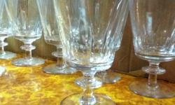 """I've got over 70 Webb Corbett 'Strand' pattern Crystal glasses for sale. Either $5 a piece or together for a discounted price. all prices, sizes and quantities is below: 9 Claret (5.25"""") $40 for all 8 Cordial (4.5X3.25"""") $35 for all 1 Goblet (3.5"""") $5 8"""