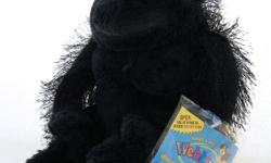 """Webkinz GORILLA with tags and sealed code. Sits about 8"""" tall and is has a hairy back, arms and legs with ultra soft short plush on the head, frontal body and foot pads. Weighted on the rump, hands and feet for sitting pretty."""
