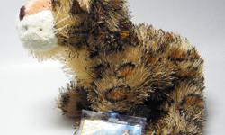 Webkinz Spotted Leopard with soft and glistening plush fur, shiny black eyes and whiskers. NEW with sealed code