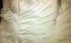 Brand new wedding dress!! never worn - just tried on Bought July 2011 Victoria Bridal gown Paid 975 asking 610 white ivory and silver lace up back removable pannel can be made smaller easaly i will be able to send more pictures upon request