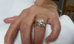 Size 6.25/6.50 Yellow 14K Gold Wedding/Engagement Ring Set   Real Diamonds, Clear, No inclusions (no carbon/minerals spots) Bonded together. $950.00   Original Price$5000.00