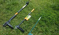 Friskars weed pullers, $25, med. Hound Dog weed puller $15. We are located in Orleans. See our list of other items for sale. First come, first served.