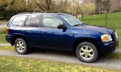 Make GMC Model Envoy 4X4 SLE Colour Blue Trans Automatic kms 248000 Highway driver regularly maintained fully loaded with towing package, brakes replaced last year new alternator, two coils recently replaced, new fuel pump and in line filter. runs very