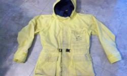 Wetskins Comfort Zone rain suit for sale. Size is Men's Medium. No rips or tears on the rubber. Washed. Only $45. We are located in Orleans. See our list of other items for sale. First come, first served.