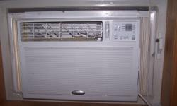 """The airconditioner with remote control has been used sparingly over the past 2 seasons. It runs very efficiently and quietly. Dimensions 23""""x17"""". Original price $400. We have recently installed central AC. Please reply by email."""