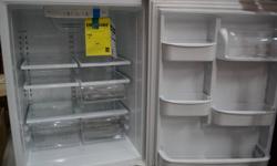 bottom freezer (door) 19 cubic feet total 13 cubic feet refrigerator 5.7 cubic feet freezer glass shelves frost free 448KWh power consumption per year