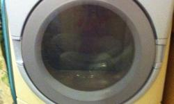 This dryer was purchased about 8 years ago. We are selling this machine because the washer died and now replacing both machines. If you are handy the washer is available for $25, still good for parts.