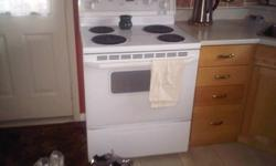 An 18.8 Cu.In. Whirlpool Gold Refridgerator, white, in great shape as well as a Whirlpool Electric Range, white also in great shape.  Got new set for Christmas and must sell these.  The price is a steal for these two great appliances.  Both are 10 years