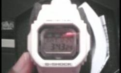 Shock Resistant, Moon Data. World Time, 29 times zones . White resin band with neutral face. Countdown Timer, Measuring unit: 1 second, Countdown range: 1 minute to 24 hours, Other: Auto Repeat, timeup alarm, progress beeper .     also comes with box, and