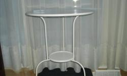2 metal tables $15.00 each FIRM