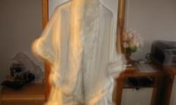 Size M White Wrap with Fur.