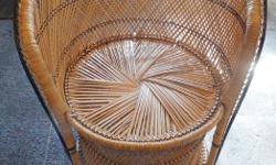"""Brand New Wicker Chair, actual wicker and not plastic or fake. Size: 32"""" high by 24"""" wide"""