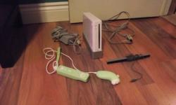 We are selling our wii its only 2 years old its only been used comes with everything it look brand new!!!! looking to get $100 out of it or best offer. if intrested plz e-mail me.   thank you