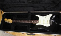 Stratocaster is a 2004/5 MIJ 62 reissue body loaded with custom Dimarzio Collection pickups designed especially for this reissue. The neck is a soft C MIJ Fender rosewood neck from 1993/4. Whammy stays in tune... Also comes with Graphtec saddles, graphtec