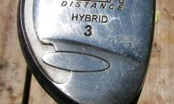 Wilson Tour Distance Right Hand #3 HYBRID Golf Club. Great for the fiarway shots. Club is in very good minty condition. This is a solid club. This will improve your mid range game. Looks very good. Graphite shaft. $30. Check out my other AD's for more