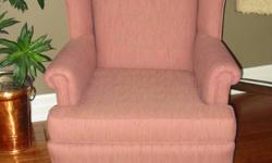 Wingback chair in excellent condition non smoking home comes with sure fit cover for two styles
