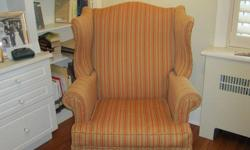 Moving Sale   Classic Wingback chair in perfect condition.  Recently re-upholstered.   Several other pieces of high-quality furniture.