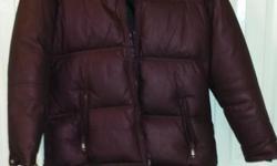 Brown winter jacket Brand; Cabin Creek Size: Med