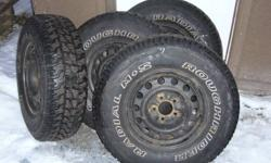 Roughrider M&S light truck tires(off of 07 Mazda B3000 4X2) Limited use,lots of tread,Rims are 5 hole Pattern. Sold truck therefore no need for tires & rims anymore $500.00 Firm