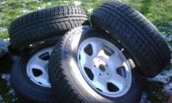 235/65/17 Michelin Latitude X-Ice Package. Includes Tires,Rims and Sensor kit.Rims off of 2008 Acura MDX. 300 kms on tires,all in excellent condition.