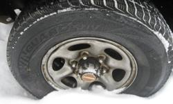 for sale 4 winter tire's ice and snow,   on suv rims 6 bolts. ( off of nissan pathfinder) like new size 235 75 15 use for a week  only motor is no longer good i keep tire's they're balance and everything payed over $800 winter is here now.. if you really