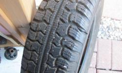 Winter tires Semperito in perfect condition Set of 4, 155/80/13 - no rims Used one season