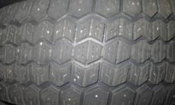 Tiger Paw Ice and Snow Winter tires. Used for 2 seasons and sold the vehicle. Tires are in great shape and still have lots of tread left and the rims are steel and are also in good shape. Tires need to be installed onto rims. If interested, please call or