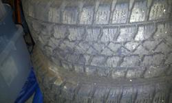 4- Artic Claw Winter tires M&S TXi with snowflake. Approximately 75% tread remaining. 250-816-1615