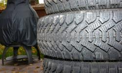 Set of 4 winter tires for sale. Goodyear Nordic P185/60R 14 Used 2 winters. Very low kms. Plenty of tread left. $ 200.     SOLD