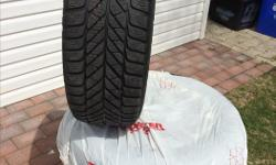 Allow wheels (Nissan) and Goodyear 4 winter tires in very good condition. 215/55R16