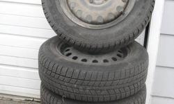 4 gently used Rotalla 195/60R15 winter tires on steel rims. 95% or better tread remaining. Only driven on for several months close to home. They fit '05 Focus models, and a few others. Contact me for more information, I have a listing of vehicles they
